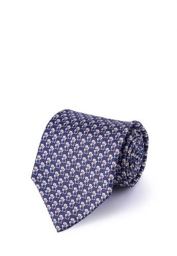 Ferragamo blue Mini Cats Tie 1280EAC5F6979AGS_1