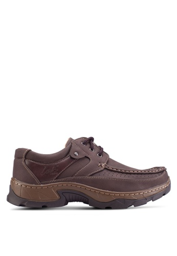 Louis Cuppers brown Lace Up Moccasins LO977SH34ZLLMY_1