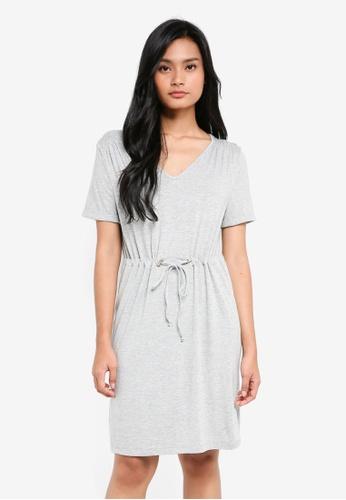 Dorothy Perkins grey Light Grey T-Shirt Dress E0877AAC26A6B9GS_1
