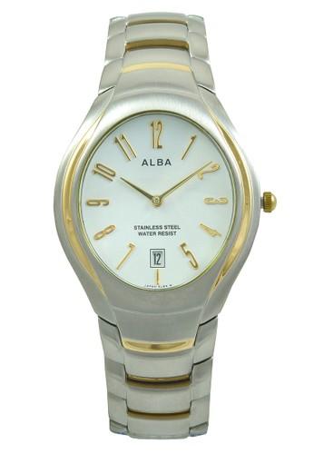 Alba silver ALBA Jam Tangan Pria - Silver Gold White - Stainless Steel - AVKC42 F0C68ACF7C9BF1GS_1