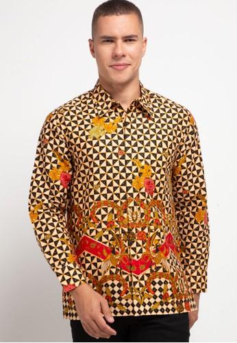 ARJUNA WEDA brown Kemeja Batik Sawat Latar Wajik 88037AAD67E492GS_1
