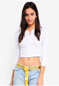 afa6051687a337 Buy Miss Selfridge Black Long Sleeve Jumbo Rib Bardot Top Online ...