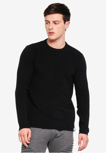 Indicode Jeans black Ayoub Mini Ribbed Knitted Sweater CB119AA4414209GS_1