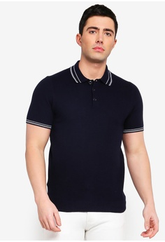 3a3ff2426bfb MANGO Man navy Striped Cotton Pique Polo Shirt 7D899AAD436931GS 1