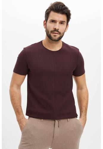 DeFacto 紅色 Short Sleeve Round Neck Cotton Basic T-Shirt 8F703AA67AE4EDGS_1