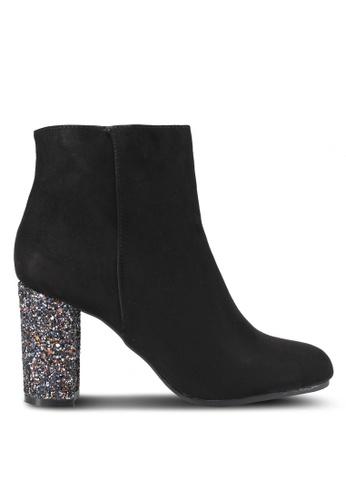 Dorothy Perkins black Black Ayla Glitter Heels DO816SH0SRDXMY_1