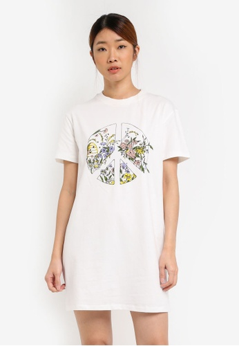 Something Borrowed white GRAPHIC TEE DRESS CA6FCZZB98CD3FGS_1