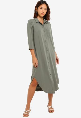 8257ad797da82 Buy GAP Long Sleeve Shirt Dress Online on ZALORA Singapore