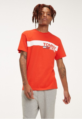 ae2e40d9 Buy Tommy Jeans Tjm Essential Box Logo Tee Online on ZALORA Singapore