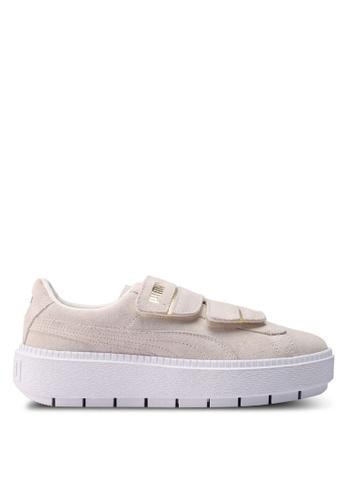 Puma beige Sportstyle Prime Platform Trace Strap Women's Shoes 2440DSHE74CCD0GS_1