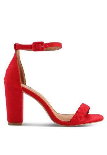 Rubi 紅色 San Serena 方形鞋頭 Heels 83374SH4234383GS_1