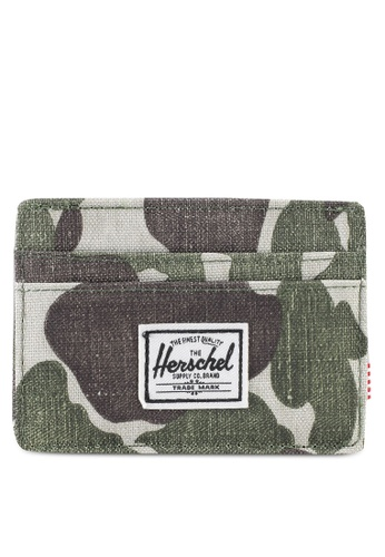 Herschel green Charlie RFID Card Holder 0993FAC4309DBEGS_1