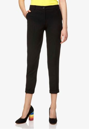 United Colors of Benetton 黑色 基本款素色休閒褲 3BA40AA184687BGS_1