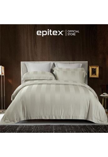 Epitex beige Cressent Dale Premium 1200TC Bamboo BD5804-2 Mud Fitted Sheet Set (w/o quilt cover) 586DBHL9858923GS_1