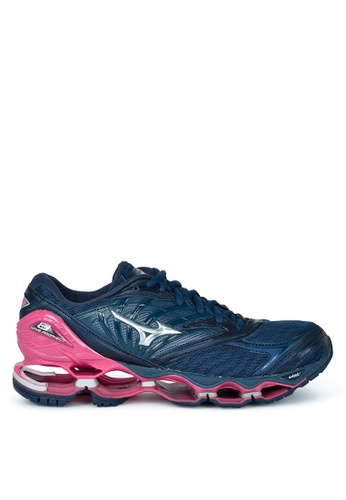 Mizuno pink and blue Wave Prophecy 8 Running Shoes 3EB8FSH2DD5806GS_1