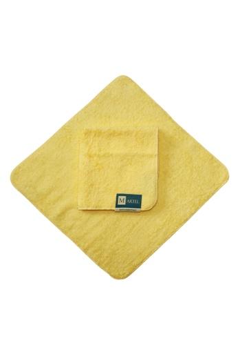 Martel yellow Martel Basic Face Towel 1102DHLD5D95EEGS_1