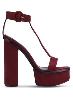 【ZALORA】 Suede Platform Heel