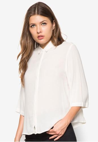 暗紋zalora taiwan 時尚購物網長袖上衣, 服飾, 上衣