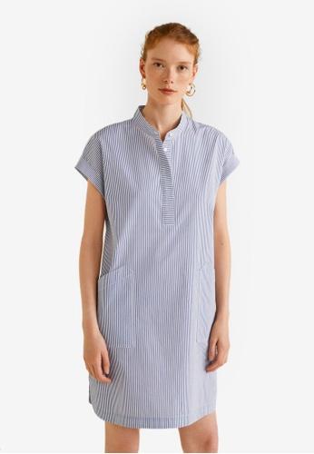 Mango blue Embroidered Cotton Dress 90828AA65CFCC5GS_1