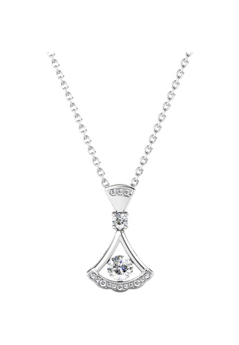 Her Jewellery silver Vienna Pendant (White Gold) - Made with Premium grade crystals from Austria E0758AC1D2FE7CGS_1