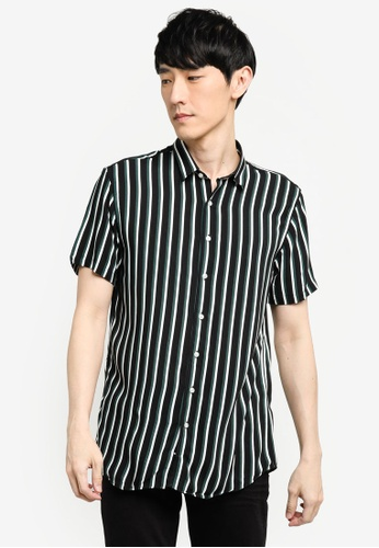 KOTON black Striped Shirt A207AAA504F335GS_1