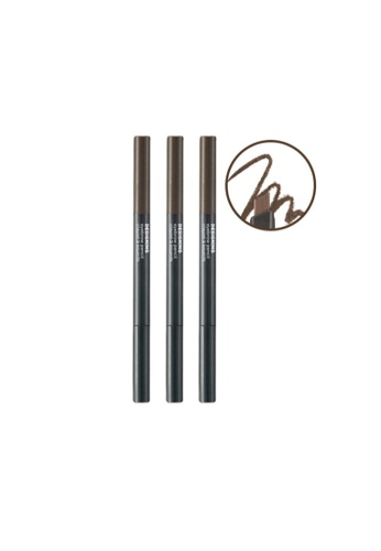 THE FACE SHOP brown Designing Eyebrow Pencil 03 Brown AC150BE2B93F51GS_1