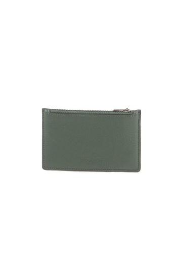 COACH green Coach Zip Leather C4280 Card Case In Dark Clover D84A8ACE455D47GS_1