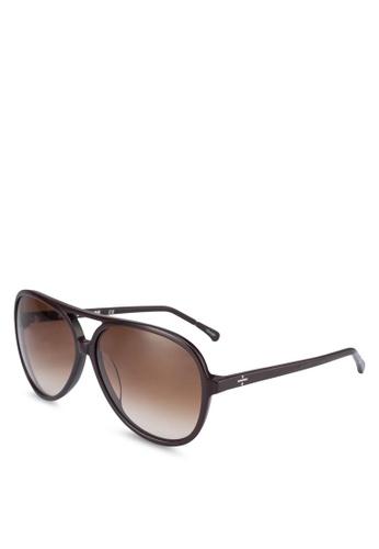 BLANC & ECLARE brown Hong Kong Sunglasses A8369GL8B41415GS_1