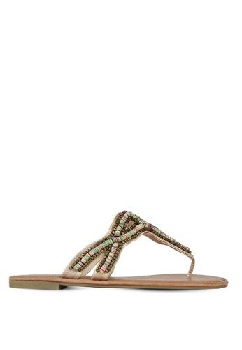 London Rag beige Women's Slip-On Sandal 4ED0ASH9D1272DGS_1