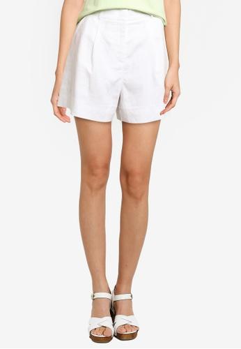 URBAN REVIVO white Women's Shorts 37F52AA050EBBBGS_1