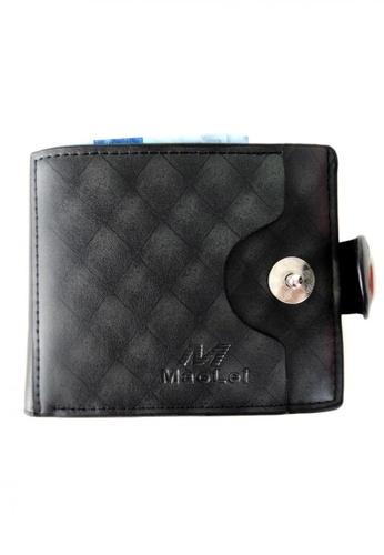 Lucky JX black M Simple Botton Wallet CB326AC79EE3E3GS_1