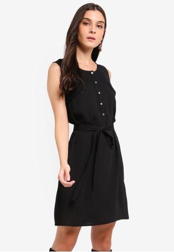 ZALORA black Pocket Detail Shift Dress 5204FAA50078DAGS_1