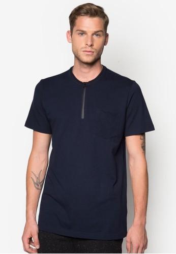 塗層拉鍊Polo 衫,esprit 台北 服飾, Polo衫