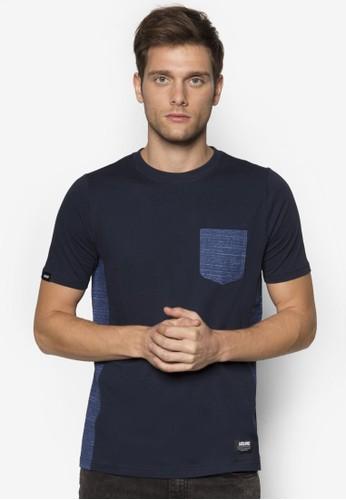 印花拼接口袋TEE, 服飾zalora是哪裡的牌子, 服飾