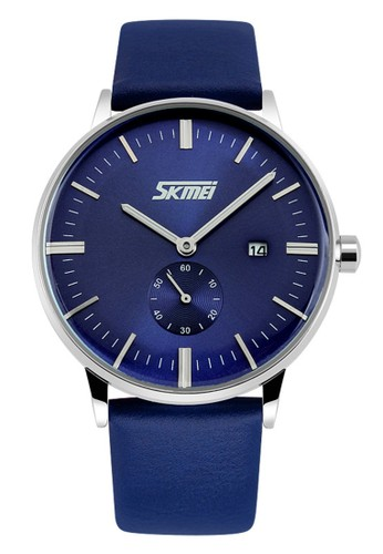 Digitec blue Skmei - Jam Tangan Pria - Blue - Leather Strap - 9083-A DI108AC67PJKID_1