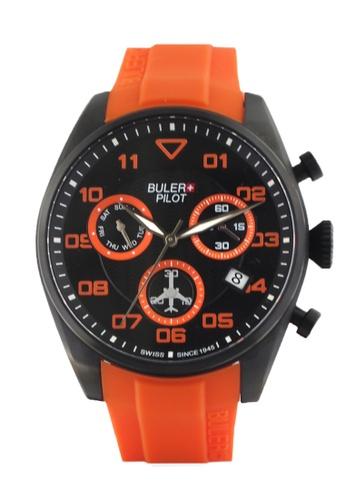 Buler black and silver Buler Sport Watch - Black - Gents - Date - 6H BU689AC2VG1MHK_1