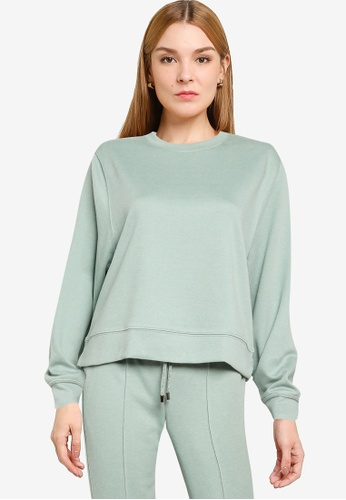 Mango green Basic Sweatshirt BA3F0AA84B1916GS_1