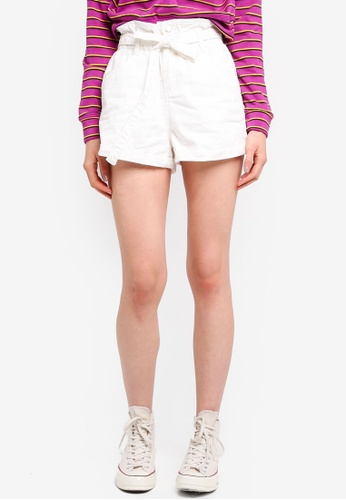 Cotton On white Paperbag Shorts EF89DAAFC5AFBCGS_1