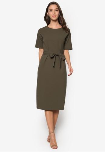 蝴蝶結繫帶連身裙、 服飾、 洋裝WAREHOUSE蝴蝶結繫帶連身裙最新折價