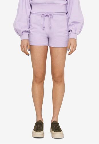 Noisy May purple Ally Organic Cotton Shorts 9A3B0AA11D0DB7GS_1
