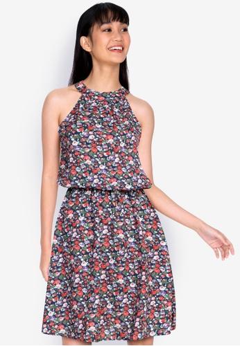 ZALORA BASICS multi Halter Neck Knee Length Dress BC5AAAA0412847GS_1