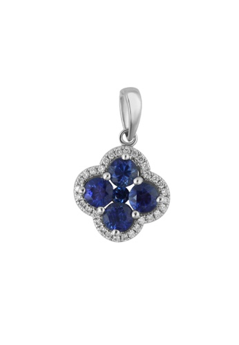 GOLDHEART gold GOLDHEART Pendant, Sapphire Diamond White Gold 750 (P5683) DFEB8AC84F4E53GS_1