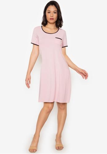Linen & Homes pink Gina Roundneck Bamboo Sleepshirt 68AB9AA9D9C457GS_1