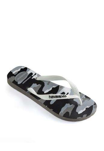 Havaianas grey Top Camu Flip Flops 3D250SHB58B847GS_1