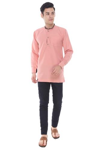 Amar Amran pink Kurta Al Hariz 1E067AA0AC1103GS_1