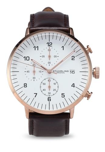 Stuhrling Original brown Monaco 3911L Watch CA5D6AC1B7829FGS_1