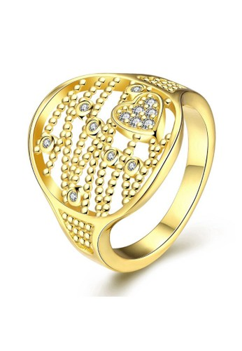 Tiaria yellow Tiaria Gold Plated Ring Casual Party KZCR397-A-8--K09 44F24ACB509FE1GS_1