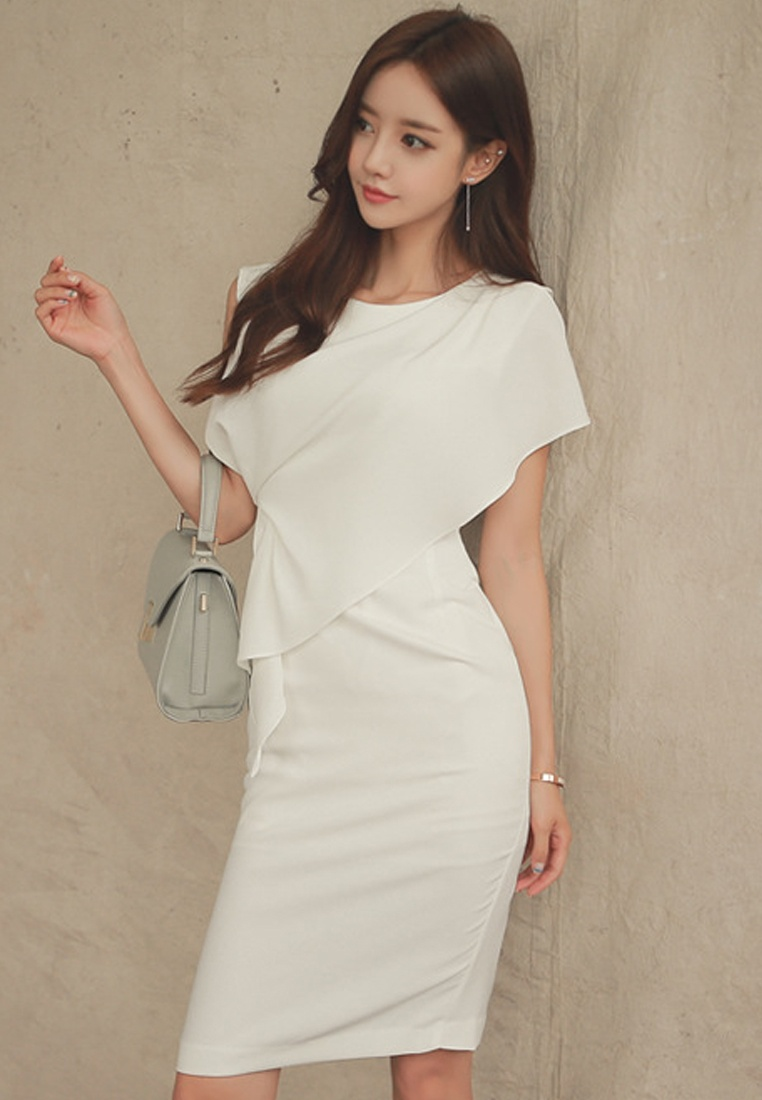 White S S 2017 white UA040329 Dress One Sunnydaysweety Elegant Piece aqt7nvx