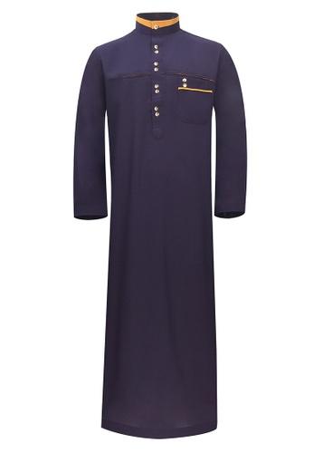Pacolino purple Pacolino - Plain Formal Casual Long Sleeve Kid Jubah 32467KA569910BGS_1