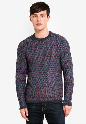 Only & Sons blue Detailed Knitted Pullover 13854AABCF8F06GS_1